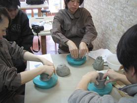 陶芸教室で作っているデミタスカップ