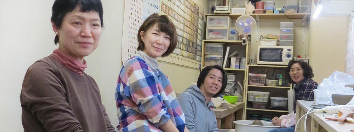 陶芸教室Futabaに通う女性会員さんたち