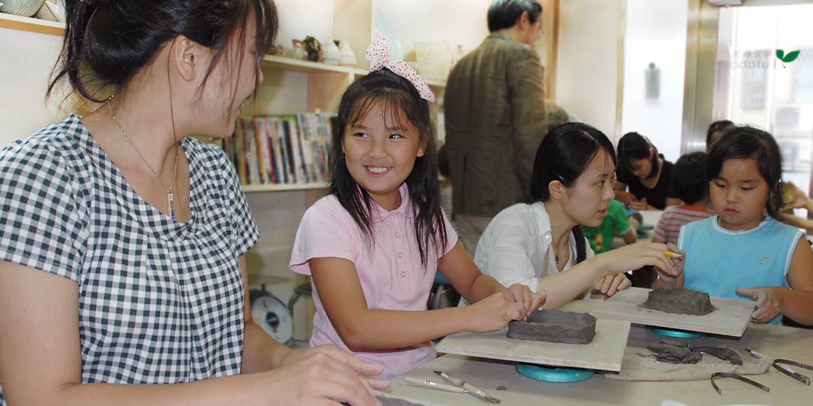 東京都内で楽しむ親子・子供陶芸体験プラン・陶芸教室Futaba