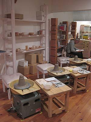 陶芸教室Futabaで電動ろくろのCM撮影