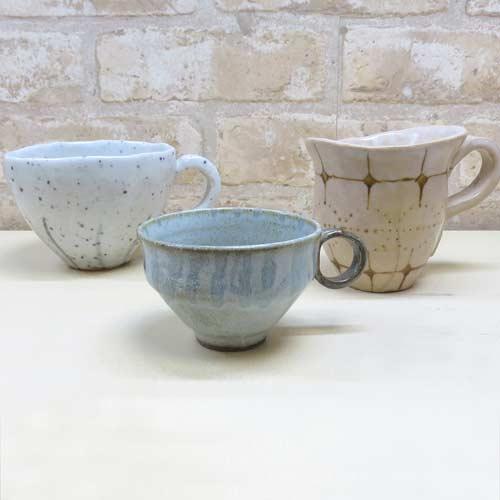 陶芸教室で作ったマグカップやティーカップの器