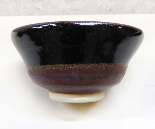 陶芸教室Futabaの電動ろくろで成形した本格黒鉢