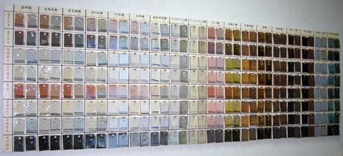 陶芸教室Futabaの釉薬は100色以上から選べる