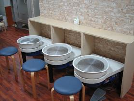 陶芸教室Futabaの最新型電動ろくろ設備