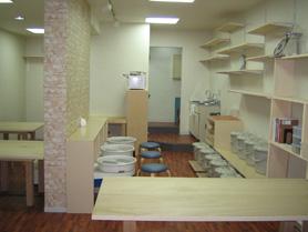 陶芸教室Futabaの教室内風景