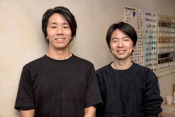 陶芸教室Futabaの若林と浜野講師