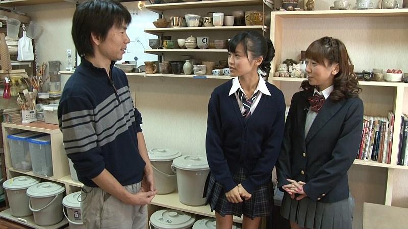 小島瑠璃子と陶芸教室Futabaの講師がテレビ番組撮影