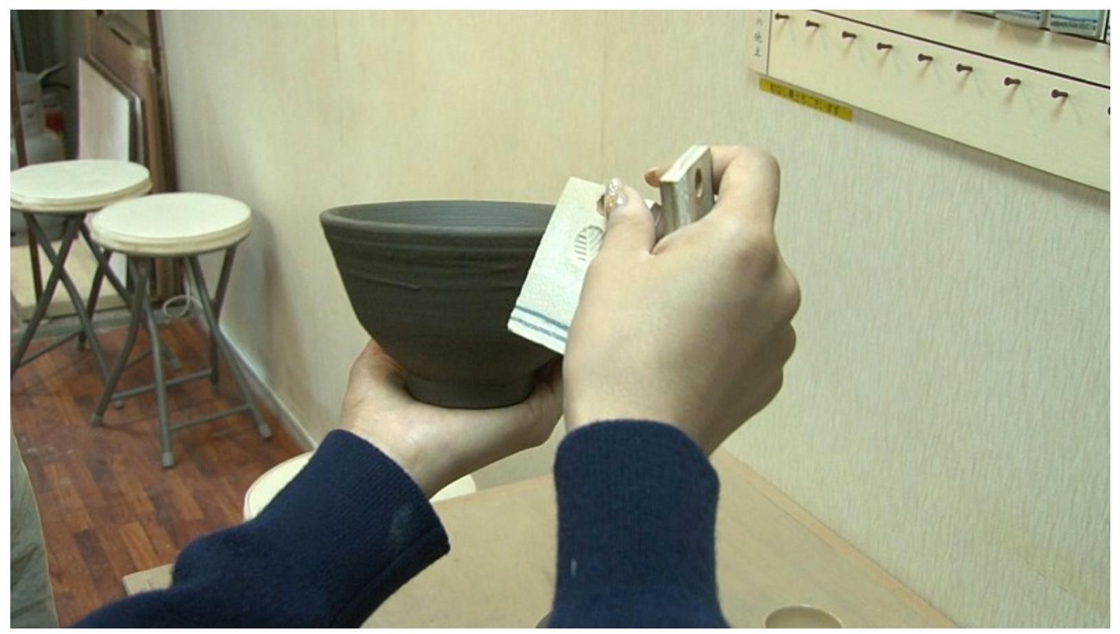 陶芸教室Futabaで電動ろくろの取材