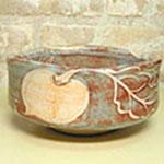 カブの絵が描かれた抹茶碗