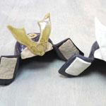 五月のこどもの日の手作り陶器の兜