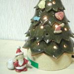 サンタとツリーの陶器