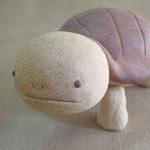 陶芸手作り亀の置物