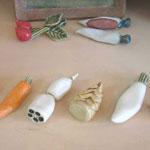 野菜の形をした箸置き6個