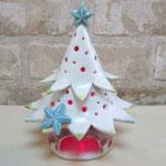 陶芸教室の陶芸体験プランで作った赤いツリー
