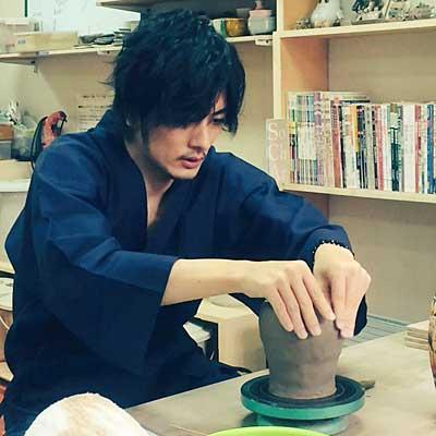 久保田悠来が陶芸教室Futabaで制作
