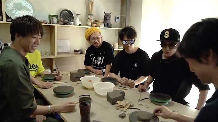 オメでたい頭でなにより、Vo.赤飯さんの陶芸制作の様子